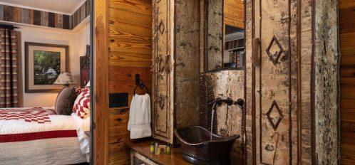 Hemlock Suite- Bathroom view of bedroom