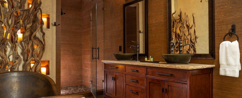 Mountain Laurel Suite- Bathroom sinks shower